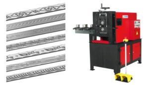 Machine à gaufrer le fer plat,tube ,rond dessin sur tube en fer NOA 60 nargesa