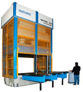presse hydraulique à colonne hydrogarne série MV 800 T
